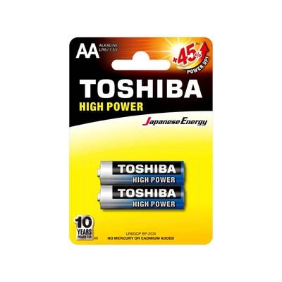 Toshiba High Power AA – LR6GCP BP-2CN Piles LR6 – Pack de 2