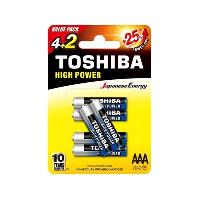 Toshiba High Power AAA – LR03GCP BP-6 2F CN Piles LR03 – Pack de 6