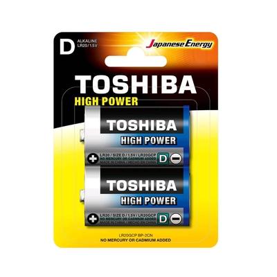 Toshiba High Power D –  LR20GCP BP-2CN Piles LR20 – Pack de 2