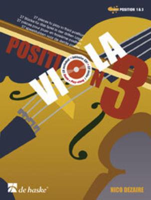 Viola Position 3 27 pieces to play in third position Nico Dezaire  Viola Buch + CD  DHP 1074343 / Nico Dezaire / De Haske