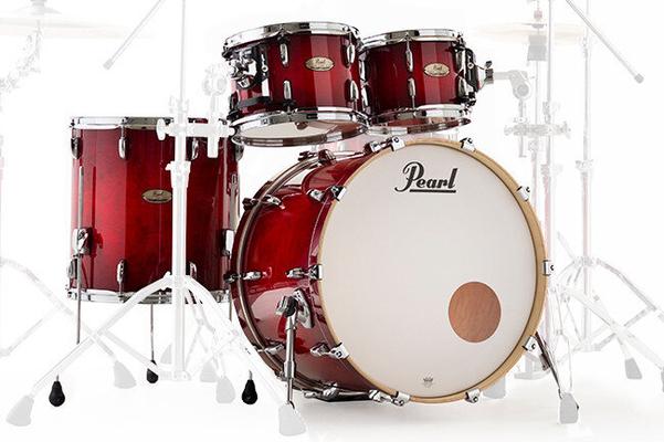 Pearl Session Studio 4 Pièces Shell Pack Antique Crimson Red BD22» Tom 10»,12» floor tom 16»