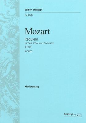 Requiem In D KV 626  Wolfgang Amadeus Mozart  Piano Reduction Klavierauszug Hymnen und Choräle EB 8585 / Wolfgang Amadeus Mozart / Breitkopf