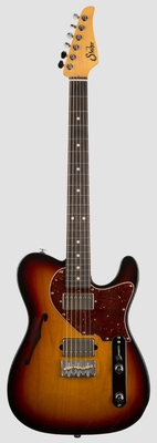 Suhr Guitars Suhr Alt T, 3 Tone Burst, Indian Rosewood fingerboard, HH