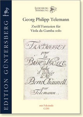 Zwölf Fantasien Fr Viola da Gamba Solo – Georg Philipp Telemann / Georg Philipp Telemann / Walhall