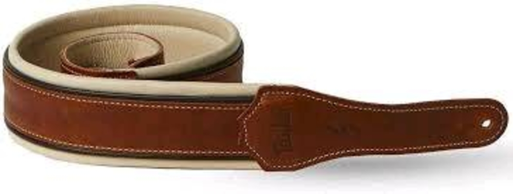 Taylor Renaissance Strap, Medium Brown Leather, 2.5»