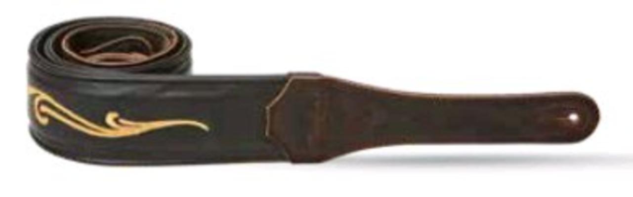 Taylor K250-05 Spring Vine Strap, Chocolate Brown Leather, 2.5»
