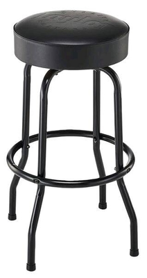 Taylor Deluxe Bar Stool, Black, 30 Inch