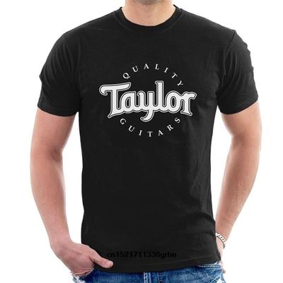Taylor Men's Basic Black Logo T-Shirt – Taille XL
