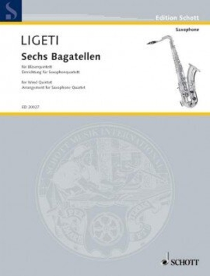 Six Bagatelles from Musica ricercata György Ligeti  Bläserquintett Stimmen-Set  ED 6407 / György Ligeti / Schott