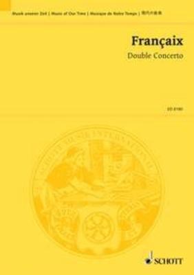 Double Concerto for flute, clarinet and orchestra Jean Françaix   Flute, Clarinet and Orchestra Studienpartitur / Jean Françaix / Schott