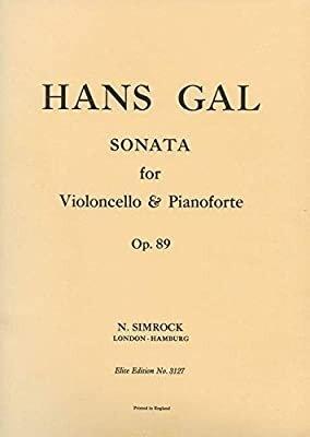 Sonata in C Minor op. 89    Cello und Klavier Buch  EE 3127 / Hans Gal / Simrock