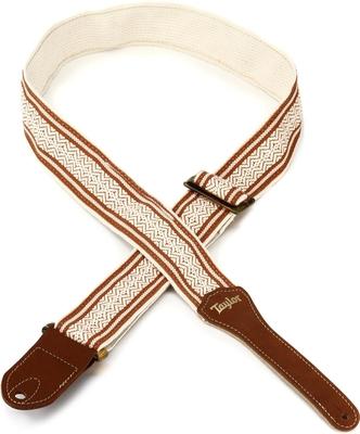 Taylor Academy Strap White / Brown Jacquard Cotton 2»