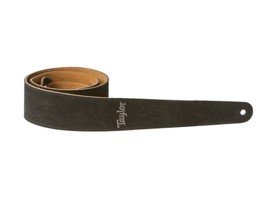 Taylor Strap, Embroidered Suede, Black – 2.5»
