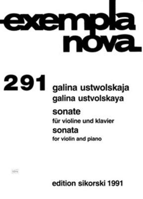 Sonate für Violine und Klavier Galina Ustvolskaya  Violine und Klavier Buch  SIK1991 / Galina Ustvolskaya / Sikorski Edition