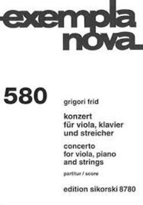 Konzert für Viola, Klavier und Streicher Grigori Frid  Viola, Piano and Strings Studienpartitur  SIK8780 / Grigori Frid / Sikorski Edition