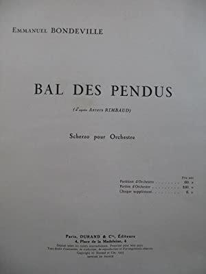 Bal Des Pendus Poche (Illuminations 3)   Emmanuel Bondeville  Orchestra Studienpartitur  DF 13717 / Emmanuel Bondeville / Durand