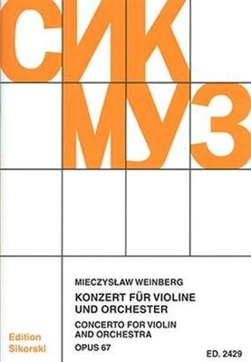 Konzert für Violine und Orchester Mieczyslaw Weinberg  Violin and Orchestra Studienpartitur  SIK2429 / Mieczyslaw Weinberg / Sikorski Edition