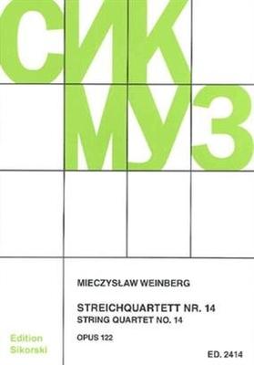 Streichquartett Nr. 14  Mieczyslaw Weinberg  Streichquartett Partitur + Stimmen  SIK2414 / Mieczyslaw Weinberg / Sikorski Edition