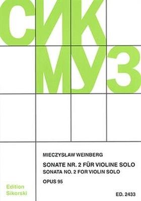 Sonate Nr. 2 für Violine Mieczyslaw Weinberg  Violin Buch  SIK2433 / Mieczyslaw Weinberg / Sikorski Edition