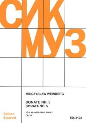 Sonate Nr. 5 für Klavier Mieczyslaw Weinberg  Klavier Buch  SIK2422 / Mieczyslaw Weinberg / Sikorski Edition