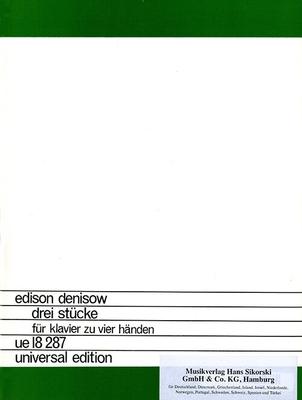 3 Stücke für Klavier zu vier Händen Edison Denisov  Piano, 4 Hands Buch  SIK6813 / Edison Denisov / Sikorski Edition