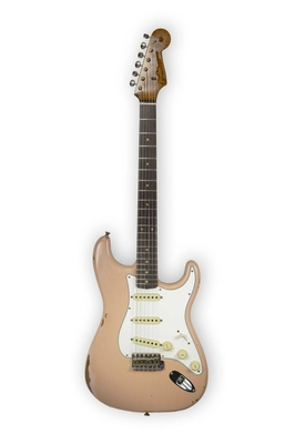 Fender Custom Shop Limited Edition Roasted Tomatillo Strat – Relic – Aged Dirty Shell Pink