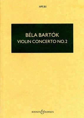 Hawkes Pocket Scores / Violin Concerto No.2  Béla Bartk   Violin and Orchestra Studienpartitur Hawkes Pocket Scores / Béla Bartk / Boosey and Hawkes