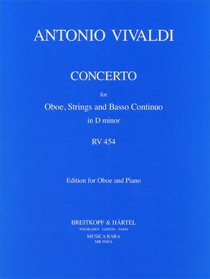 Concerto For Oboe In D Minor RV 454  Antonio Vivaldi  Robert P. Oboe and Orchestra Klavierauszug / Antonio Vivaldi / Robert P. / Breitkopf