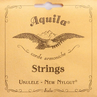 Aquila 8U – New Nylgut, Ukulele String Set, Concert, Low-G Tuning (1 wound string)