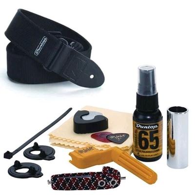 Dunlop Herco Accessory Pack + sangle pour guitare acoustique