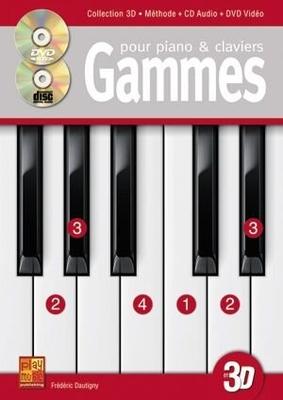 3D / Gammes Improvisation Clavier 3D  Gammes Dautigny  Play Music France Piano Recueil + CD + DVD 3D Pédagogie French / Dautigny / Carisch