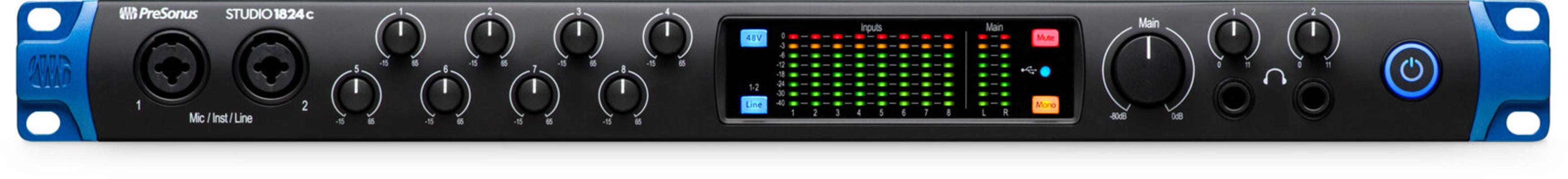 Presonus Studio 1824c – Interface audio USB, 18In/24Out, USB-C