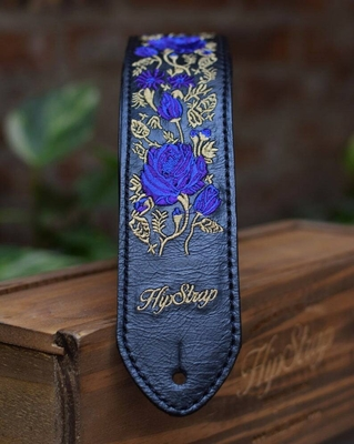 HipStrap Blue Roses Leather