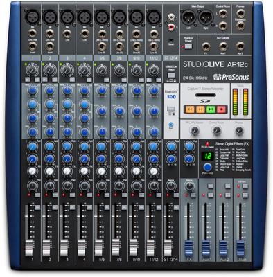 Presonus StudioLive AR12c Table de mixage 14 canaux / Interface audio USB-C