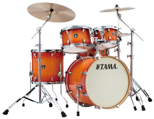 Tama CL50RS-TLB Superstar Classic Maple Kit 20» Tangerine burst 20/10/12/14/14X5 sans hardware et cymbale Livré sans hardware et Cymbales