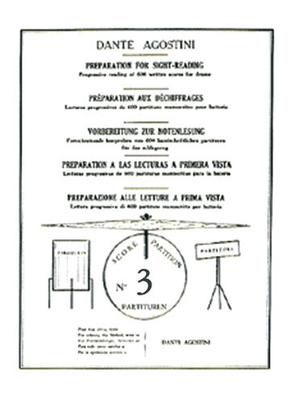 Méthodes Agostini / Préparation au déchiffrage – Volume 3  Dante Agostini  Dante Agostini / Dante Agostini / Agostini