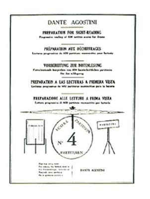 Méthodes Agostini / Préparation au déchiffrage – Volume 4  Dante Agostini  Dante Agostini / Dante Agostini / Agostini