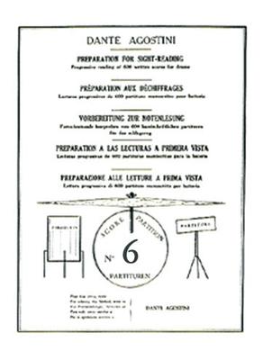 Méthodes Agostini / Préparation au déchiffrage – Volume 6  Dante Agostini  Dante Agostini / Dante Agostini / Agostini