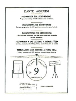 Méthodes Agostini / Préparation au déchiffrage – Volume 9  Dante Agostini  Dante Agostini / Dante Agostini / Agostini