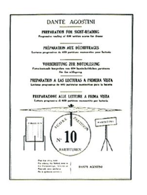 Préparation au déchiffrage – Volume 10  Dante Agostini  Dante Agostini / Dante Agostini / Agostini