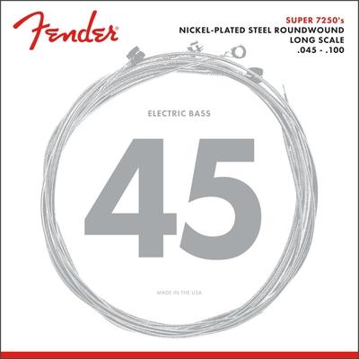 Fender 7250 Bass Strings Nickel Plated Steel Long Scale 7250ML .045-.100 Gauges (4)