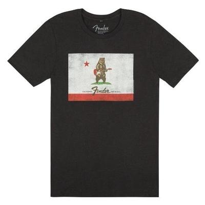 Fender Gift, Fender Bear Flag T-Shirt, Black – Medium