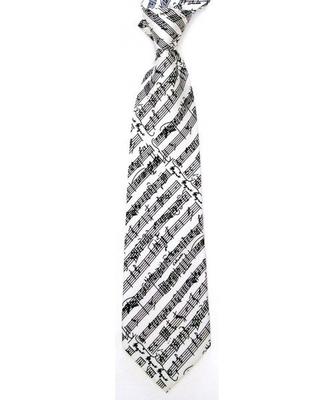 AIM GIFTS Silk Tie White Mozart    Music Gift Company  Cravate