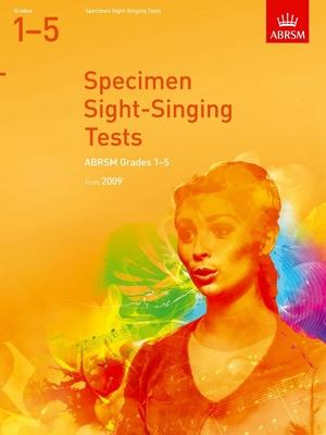 ABRSM Examination Materials / Specimen Sight-Singing Tests Grade 1-5    ABRSM Vocal Recueil ABRSM Examination Materials /  / ABRSM