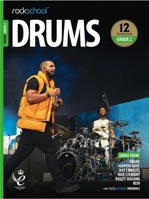 Rockschool Drums Grade 2 (2018)    Batterie Recueil + Enregistrement(s) en ligne  Pédagogie English EASY /  / Rockschool Ltd.