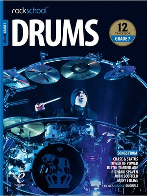 Rockschool Drums Grade 7 (2018)    Batterie Recueil + Enregistrement(s) en ligne  Pédagogie English INTERMEDIATE-ADV /  / Rockschool Ltd.