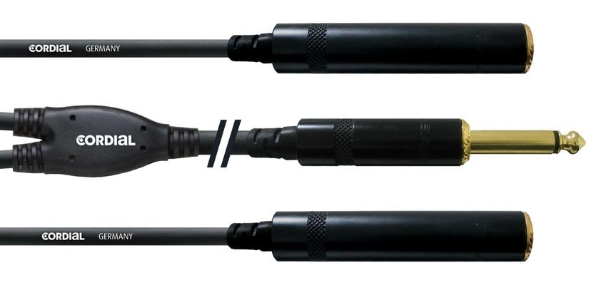 Cordial CFY 0.3 PGG câble Y, 0.3m