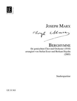 Berghymne  Joseph Marx  Mixed Choir (SATB) and Orchestra Conducteur de poche / Joseph Marx / Universal Edition