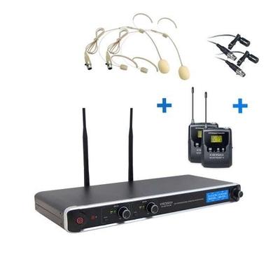 Definitive Audio DA UHF PT 200 Micro Serre Tête Double UHF