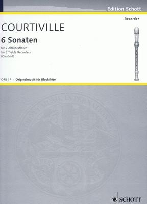 Sonaten(6)  Raphael Courteville  2 Alto Recorders Recueil / Raphael Courteville / Schott